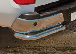 Rear styling corners stainless steel